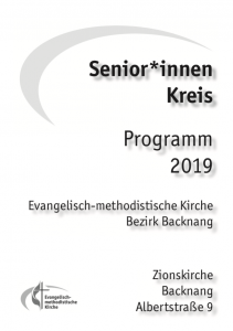 Programm der Senior*innennachmittage 2019