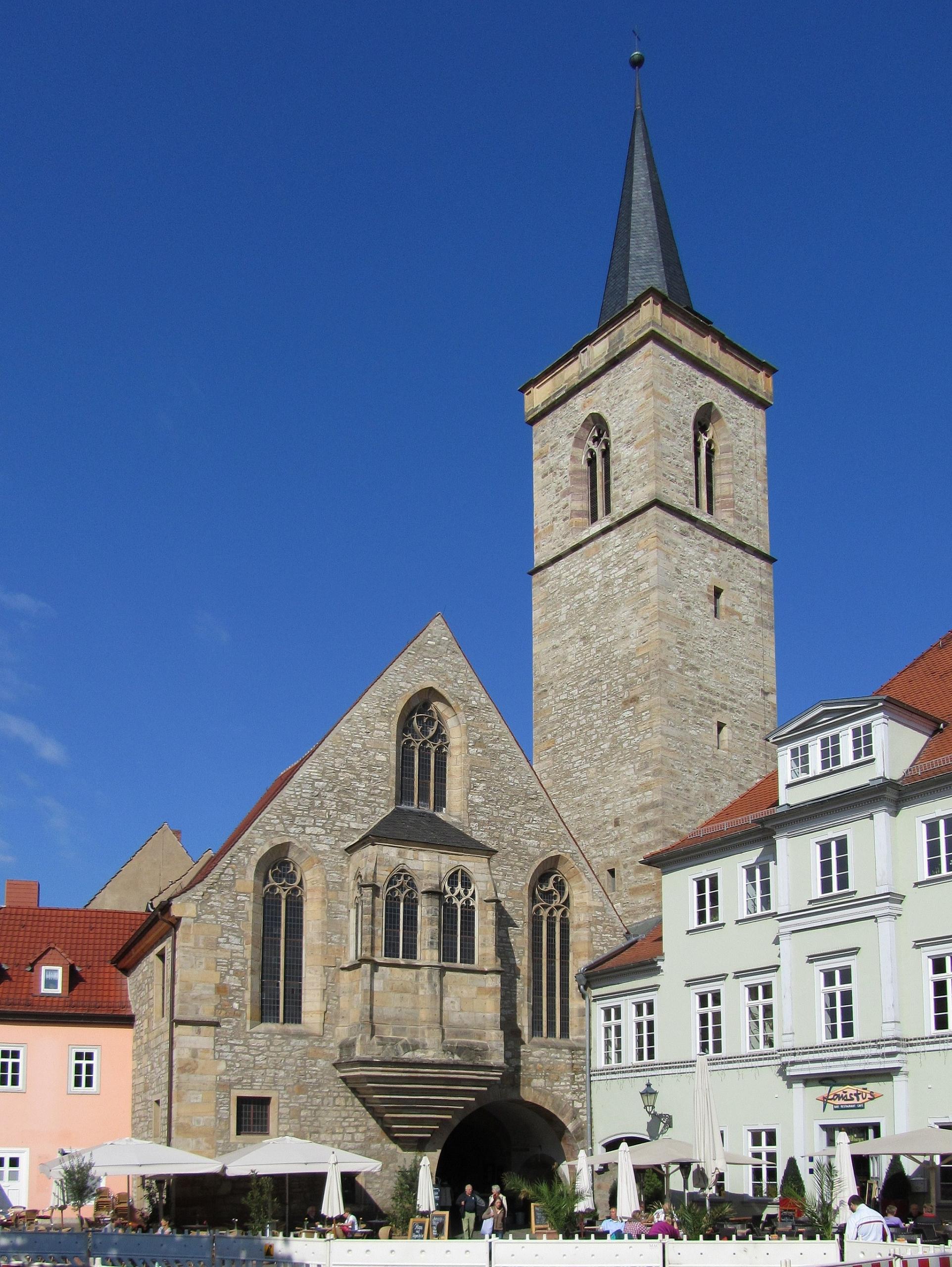 Das Bild zeigt die Ägidienkirche in Erfurt