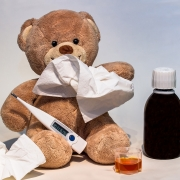 Ein kranker Teddybär.